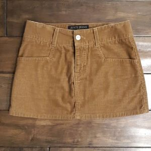 Juicy couture camel color corduroy mini skirt size